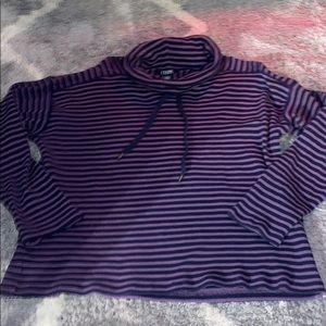Chaps Ralph Lauren purple striped turtle neck xlp
